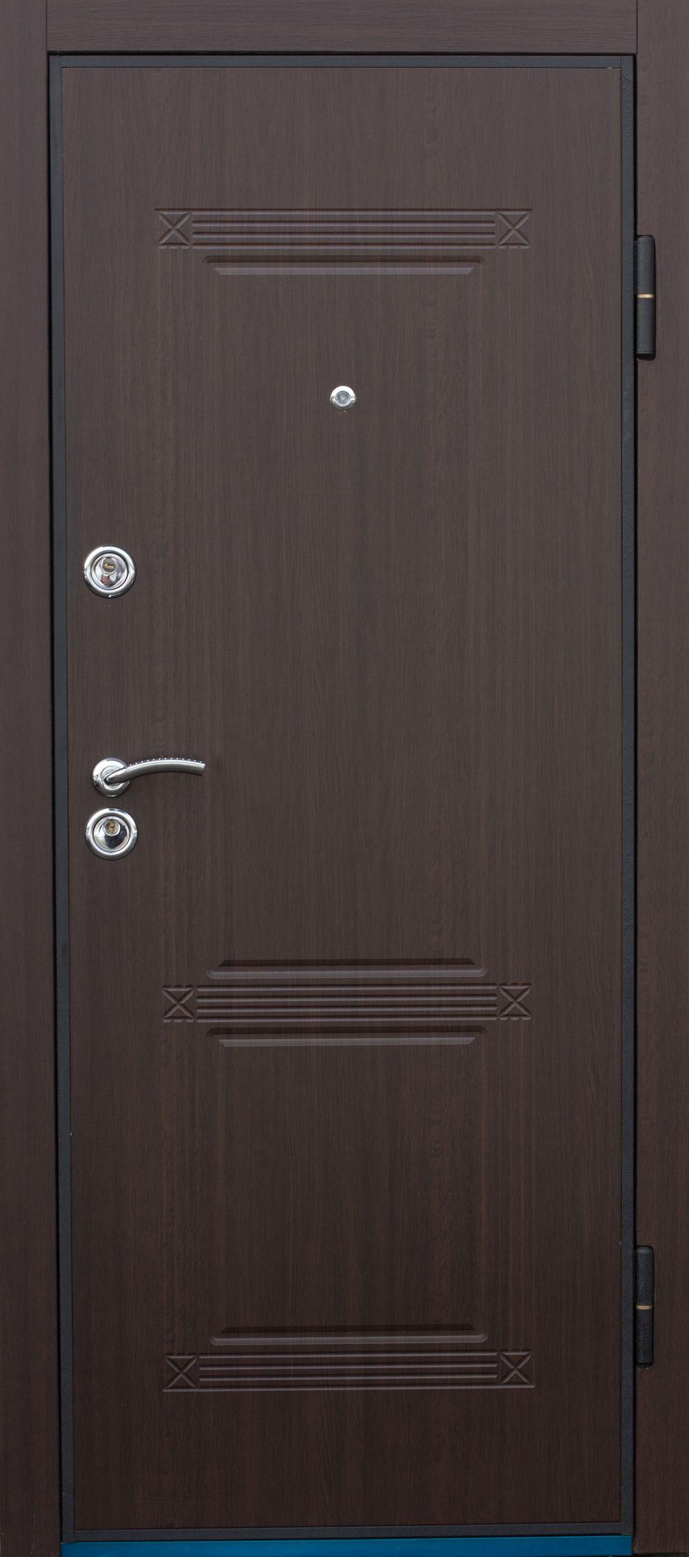 шумоизоляция входной металлической двери с мдф накладкой